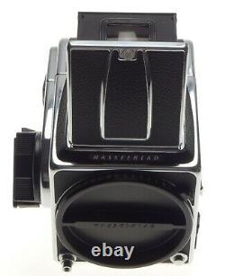 2000FC Hasselblad 6x6 medium format camera body 12 film back chrome WLF Mint Box