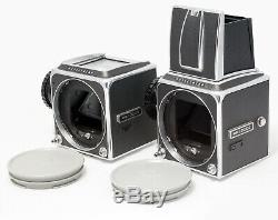 2 Hasselblad Camera Bodies 500 C with 11 pcs Film Backs UNTESTED
