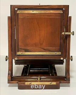 AGFA ANSCO 8 x 10 LARGE FORMAT VIEW CAMERA + 5 x 7 BACK WETPLATE / FILM EXC+