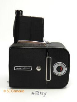 Black Hasselblad 500c/m Camera Body With A12 Film Back & Wlf Near Mint