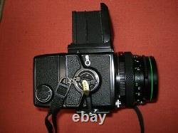 Bronica ETRS camera complete with lens, waist level finder and 120 film back