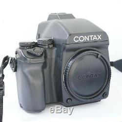 CONTAX 645 AF medium format SLR film camera body with prism finder, film back