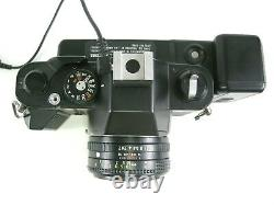 Chinon CM-5 35mm SLR film camera with 50mm f2 lens and Info Back-2 DP-520