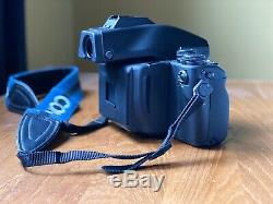 Contax 645 Medium Format SLR Film Camera Body, Prism Finder, Film Back, Insert