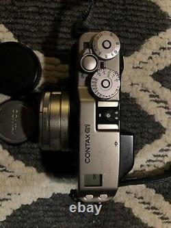 Contax G1 Green Label Data Back 35mm Lens Rangefinder Film Camera