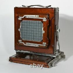 Deardorff 5x7 Field Camera Ex+++, 5x7&4x5 backs, film holder, GG cover, witho lens