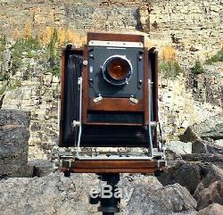 Deardorff V5 OS view camera, with 4x5 & 5x7 backs, Film & 2 holders $1100