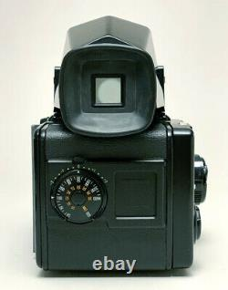 EXCELLENT Bronica SQ-Ai Camera Kit 110mm MACRO Lens, Prism Finder, 120 film back
