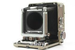 EXC+5 + Back Wista 45 4x5 Large Format Field Film Camera Body Wood grain Japan