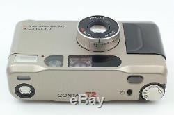 EXC+5 + Case Contax T2 35mm Film Camera with date back f/2.8 38mm From JAPAN