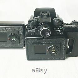 EXC+5 PENTAX 645N Medium Format SLR Film Camera Body with 120 & 220 Film Back
