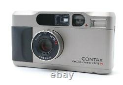 EXC++++ / MF Piston Contax T2 D T2D Data Back 35mm Film Camera From JAPAN #P69
