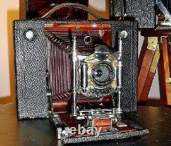 Eastman Kodak Cartridge No 4 Camera with 4 x 5 sheet film back in mint condition