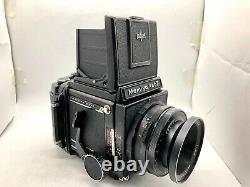 Exc+5Mamiya RB67 Pro Film Camera + 65mm 127mm 2Lens withHood + 120 Film Back