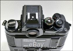Exc+5 Nikon F3 HP F3P Press SLR 35mm Film Camera MD-4 Data Back + MF-6 JN1095