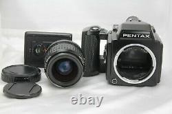Exc+5 Pentax 645 Film Camera + SMC A 55mm f2.8 Lens +120 Film Back from Japan
