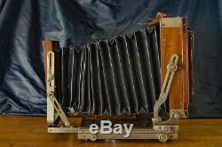 Excellent Deardorff 5x7 with 4x5 back vintage wooden camera