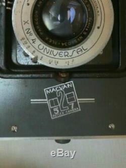 Extremely Rare Vintage Macvan Large Format 5x7 Tlr Studio Split Back Film Camera