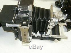 GRAFLEX CROWN GRAPHIC Camera 2x3 2¼ x 3¼ withKodak 101mm f4.5 LENS +120 FILM BACK