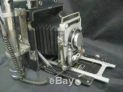 GRAFLEX SPEED GRAPHIC 4X5 CAMERA KIT With 135mm CASE FLASH 120 BACK FILM HOLDERS +