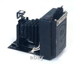 German Ernemann Dresden Vintage Folding Film Camera w Zeiss Ikon 667/2 6x9 Back