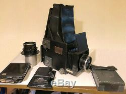 Graflex RB Series D 4x5 Camera w 120 Film Back, 2 Lenses 3 Backs