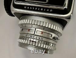 HASSELBLAD 500 CM CAMERA + 80mm Lens + A24 BACK-MEDIUM FORMAT FILM withLENS HOOD