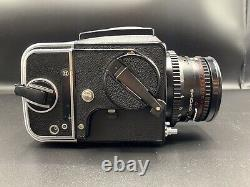 Hasselblad 500CM Camera, Zeiss Planar 2.8, 80 mm T lens, 2 Film Backs Kit Ex++