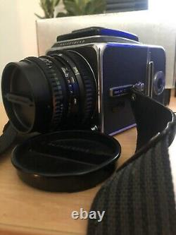Hasselblad 500C/M 500CM Film Camera, with Carl Zeiss Planar T 2.8/80 & A12 Back