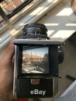 Hasselblad 500C/M Medium Format Film Camera with 80mm Planar T Lense, 120 Back