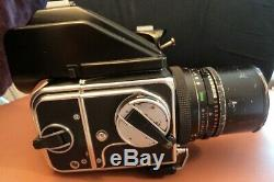 Hasselblad 500 C/M Camera 50mm Lens, PM90 View Finder, 12A Film Back & More