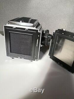 Kiev 88 CM camera body + Waist level Finder+ NT film back +CLA! USA