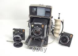 Linhof 70 Camera Complete 3 Lenses With Cams 2 Rollex Film Backs BEST OFFER