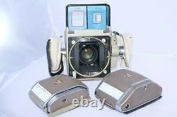 Linhof Aero Press 6x7cm Aerial Camera with 2 lens, 220 and 70mm film backs, case