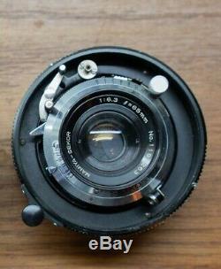MAMIYA 23 Standard Film Camera Body, back & 2 lens kit w camera bag
