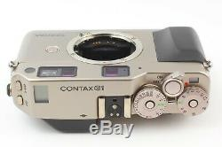 MINTTESTED CONTAX G1 Film Camera With strap cap Data Back From Japan