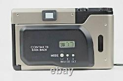 MINT CONTAX T3 T3D Data Back Strap Point & Sfoot 35mm Film Camera From Japan