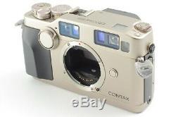 MINT Contax G2 Data Back 35mm Rangefinder Film Camera + 45mm Lens JAPAN #1635