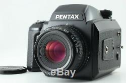 MINT+Pentax 645N Camera, SMC A 75mm f/2.8 Lens, 120 Film Back from JAPAN #E53