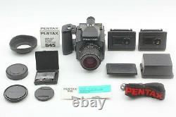 MINT SET Pentax 645 Medium Format Camera & SMC A 55mm f/2.8 Lens 120 Film Back