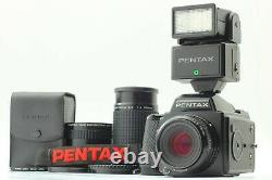 MINT+++ with 2 Lens Pentax 645 Camera Body SMC A 75mm 200mm 120 Film Back JAPAN