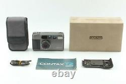 MINT+++ with CaseCONTAX T2 Titan Black 35mm Film Camera & Date Back JAPAN #620