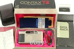 MINT+ with Case in Box Contax T2 Deta Back Titan Silver Film Camera from JAPAN