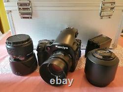 Mamiya 645 AFD Medium Format Camera With 3 Lenses 2 Film Backs Complete Setup