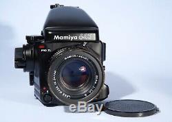 Mamiya 645 PRO TL Camera Sekor C 80mm f/2.8 N Lens + Film Back + AE Prism Finder