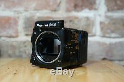Mamiya 645 Pro 6x4.5 Film Camera Body + 120 Film Back Near Mint