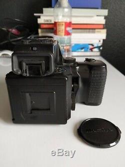 Mamiya 645 Super Film Camera Bundle + 2 Lenses + 120back + polaroid back