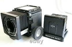 Mamiya RB67 Pro S Film Camera with90&127mm. Polaroid film back. Excellent