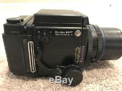Mamiya RZ67 Pro II Medium Format SLR Film Camera, with lens, film backs, finders