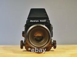 Mamiya RZ67 Pro Medium Format Camera AE Finder + 127mm +120 Film Back + Polaroid